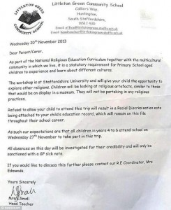racism letter