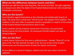 sunnis and shias explanation