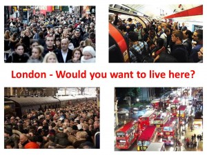 crowded london