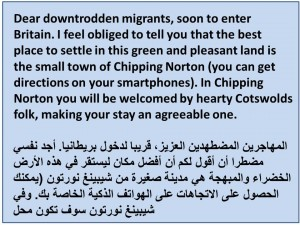 message to migrants