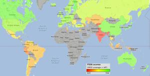 pisa-scores-2009-world-map1
